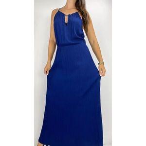 CITY CHIC Blue Crepe Maxi Dress Plus Size XS AU 14